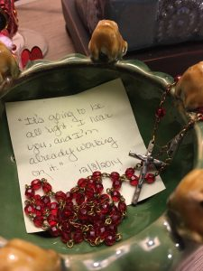 Molly Jo's Journals: Frog Bowl with Rosary