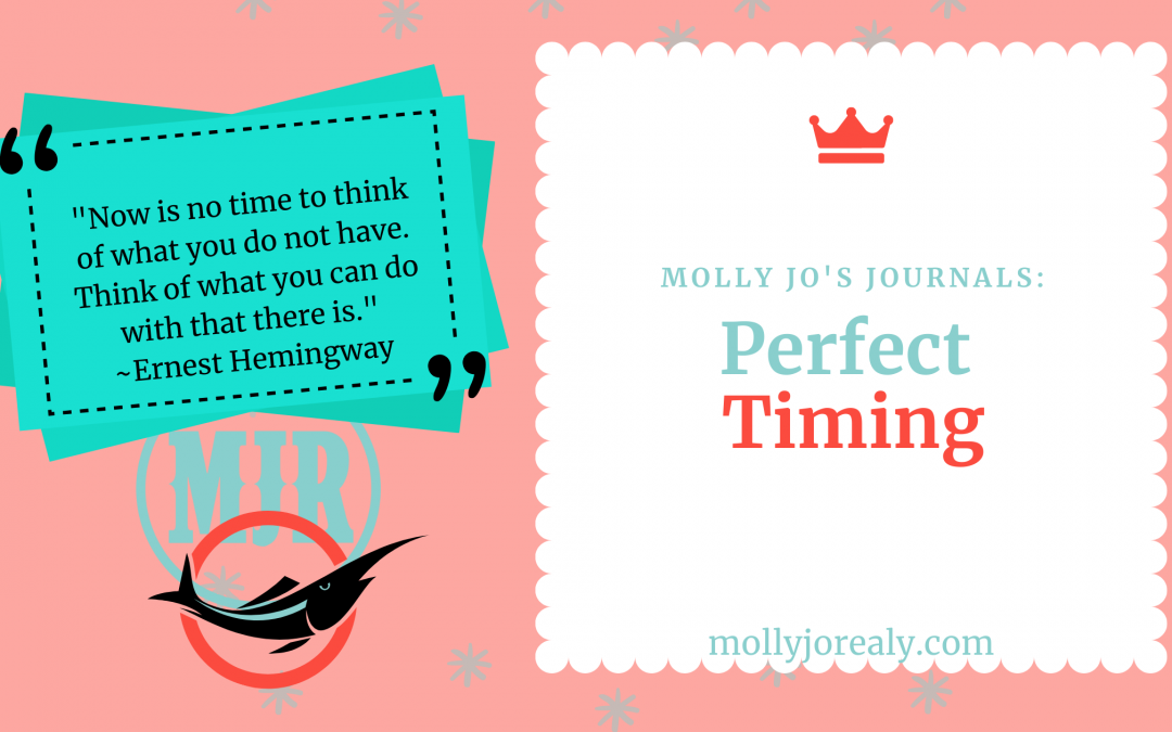 Molly Jo's Journals: Perfect Timing